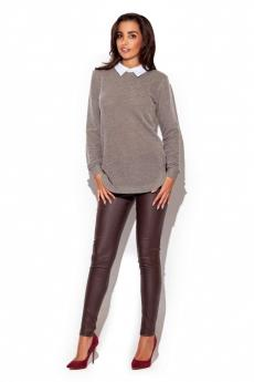 Sweter damski K226 brown